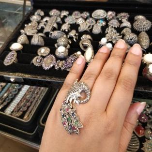 Udaipur, Rajasthani jewellery, desipostcards, silver rings
